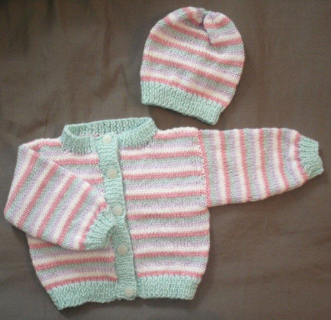 "Baby Sweater Set - ""Sassy Stripes"" --- FAST and FREE Shipping"