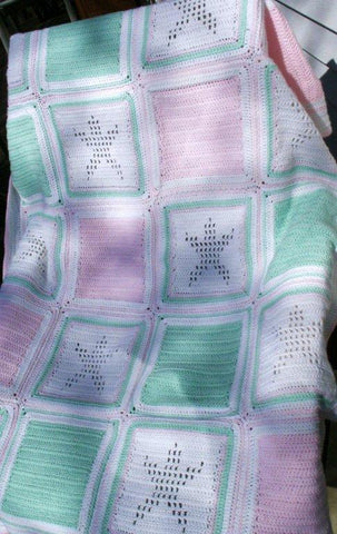 "Baby Blanket/Lap Blanket ""Shining Star"" --- Fast and FREE Shipping"