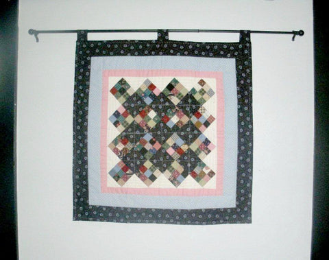 "Quilted Wall Hanging/Table Topper - ""Nine Patch""   ---  FAST and FREE Shipping"