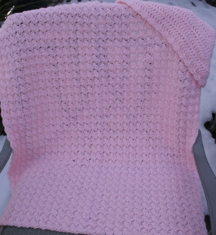 "Baby Blanket - ""Hooded Blanket"" in Pink   ---  FAST and FREE Shipping"