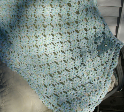 "Baby Blanket - ""Light and Lacy""  ---  FAST and FREE Shipping ----------------------- SALE PRICE $38.46"
