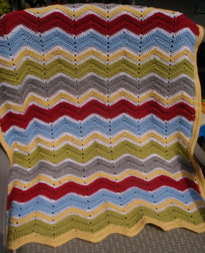 "Baby Blanket - ""Ripple Stitch""   ---  FAST and FREE Shipping"