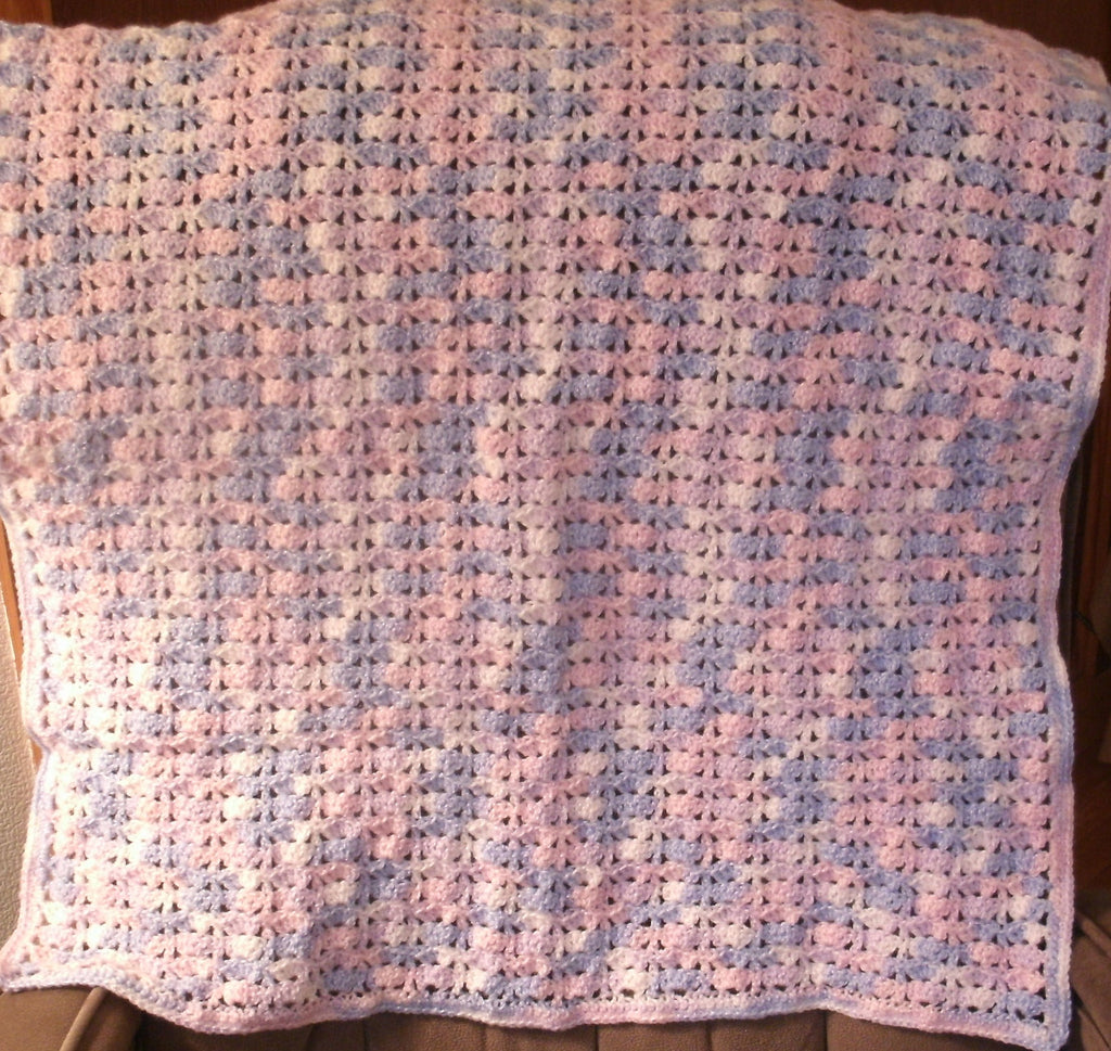 "Baby Blanket - ""Variegated Pastel""   ---  FAST and FREE Shipping"
