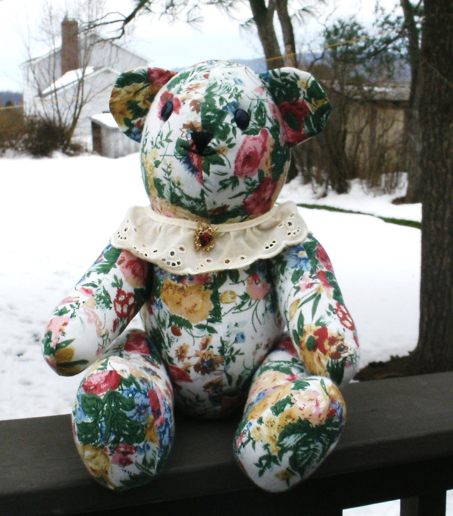 Fabric Teddy Bear - Nanette