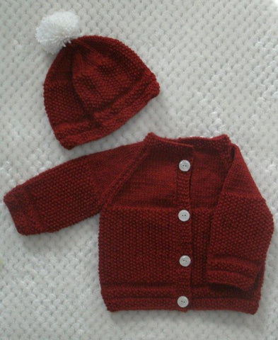 "Baby Sweater Set - ""Cuddly Sweet"""