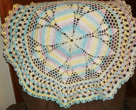 "Baby Blanket - ""Candy Swirl""   ---  FAST and FREE Shipping"