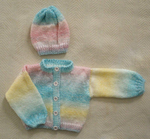 "Baby Sweater Set - ""Honeysuckle"" --- FAST and FREE Shipping"