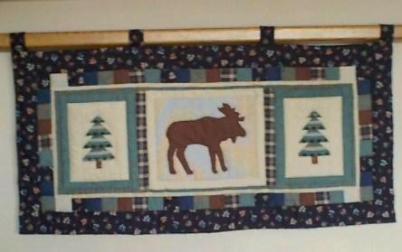 "Quilted Wall Hanging - ""Adirondack Moose""   ---  FAST and FREE Shipping"