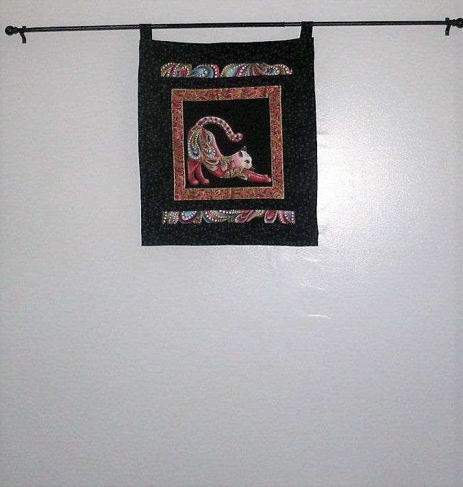 "Quilted Wall Hanging - ""Colorful Cat"""