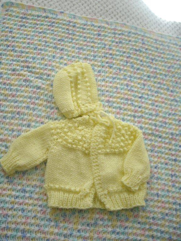 Baby Blanket AND Mathing Sweater Set   ---  FAST and FREE Shipping