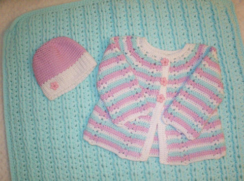 Baby Blanket and Sweater Set
