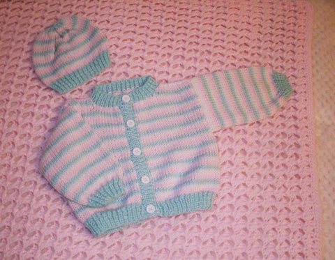 Baby Blanket and Sweater Set   ---  FAST and FREE Shipping