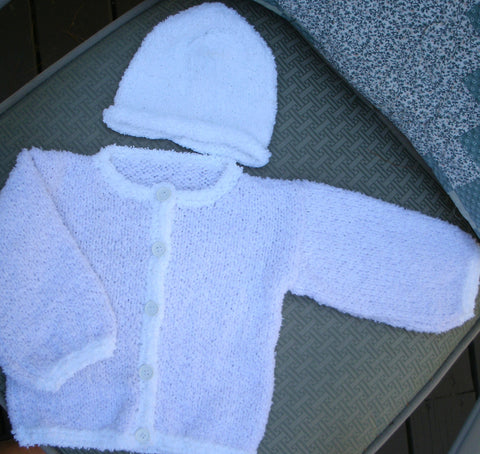 "Baby Sweater Set - ""Teri Yarn""   ---  FAST and FREE Shipping"