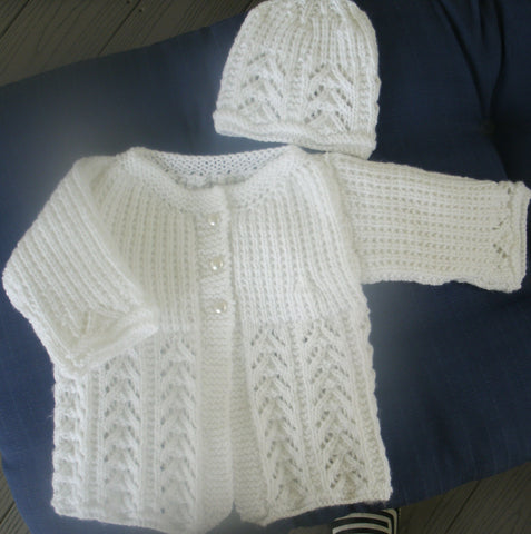 "Baby Sweater Set - ""Veronica""   ---  FAST and FREE Shipping"