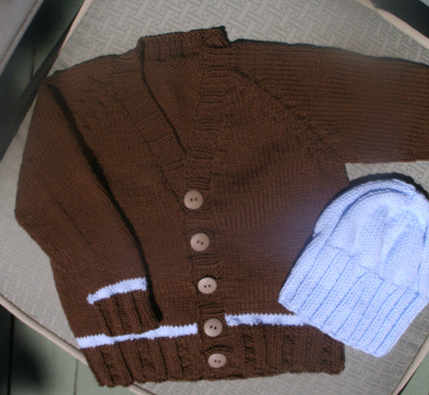"Baby Sweater Set - ""Charmer"""