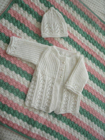 Baby Blanket and Sweater Set -
