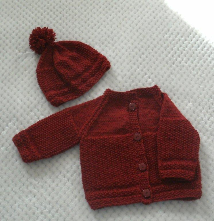 "Baby Sweater Set -  ""Cuddly Sweet""   ---  FAST and FREE Shipping"