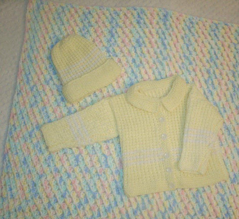Baby Blanket an Sweater Set   ---  FAST and FREE Shipping