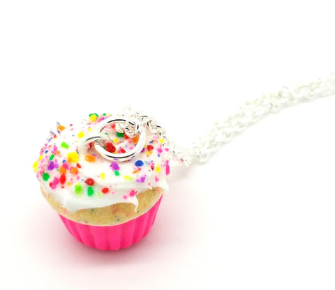Birthday Confetti Cupcake Necklace - Bakery Charms - 1