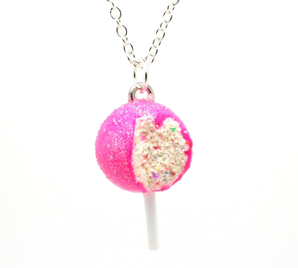 Birthday Confetti Cake Pop Necklace - Bakery Charms - 1
