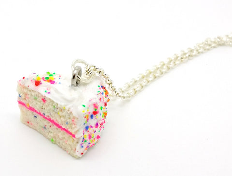 Birthday Confetti Cake Slice Necklace - Bakery Charms - 1