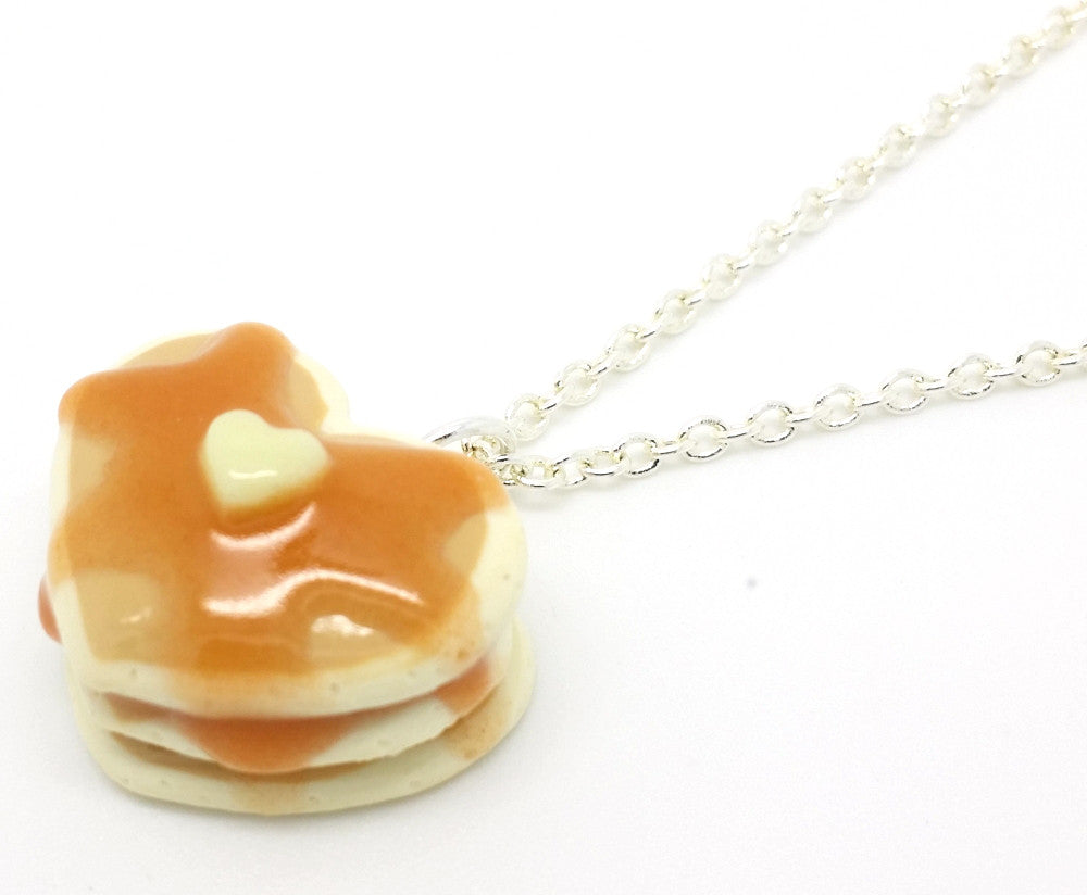 Heart Pancakes Necklace - Bakery Charms - 1