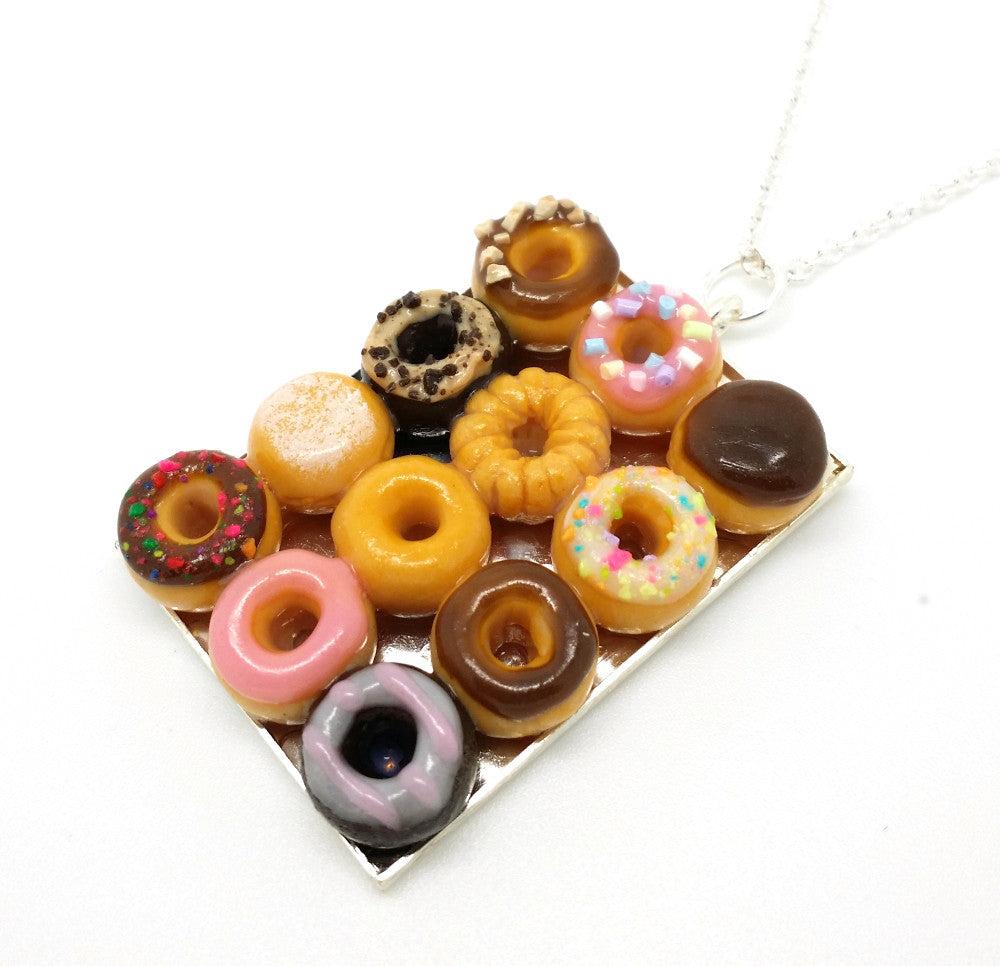 Box of Dozen Donuts Necklace - Bakery Charms - 1