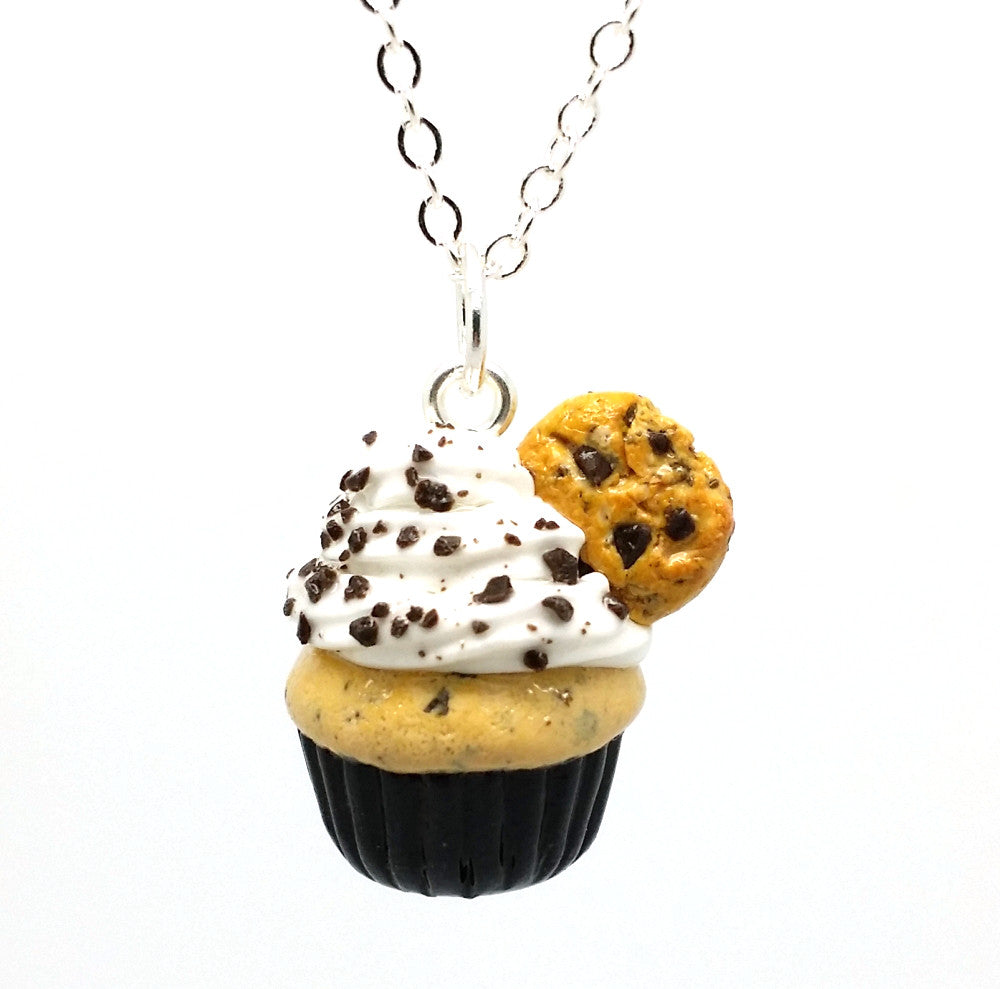 Chocolate Chip Cookie Cupcake Necklace - Bakery Charms - 1