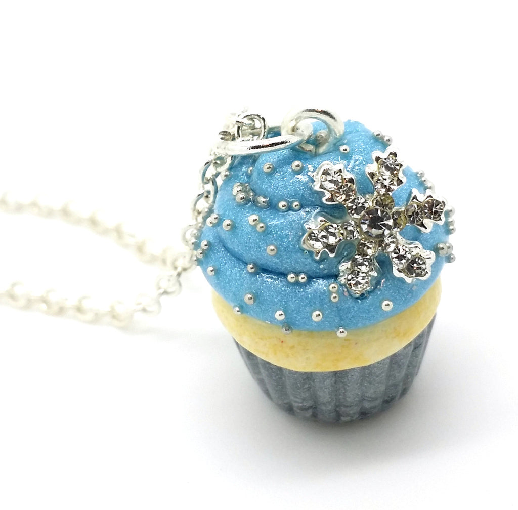 Snowflake Cupcake Necklace - Bakery Charms - 1