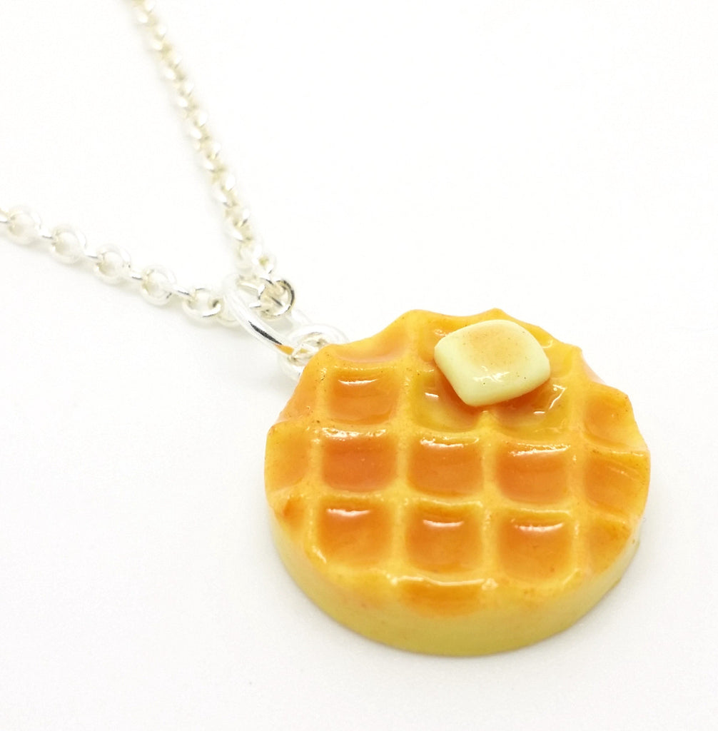 Waffle Necklace - Bakery Charms - 1