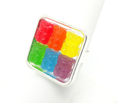 Rainbow Gummy Bears Ring - Bakery Charms - 1