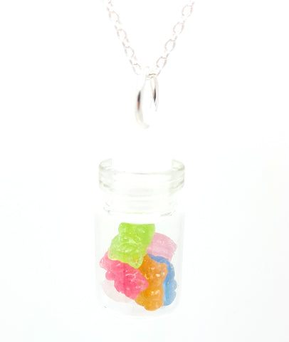 Bottle of Gummy Bears Necklace - Bakery Charms - 1
