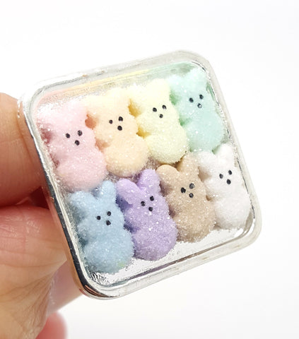 Box of Marshmallow Bunnies Ring - Bakery Charms - 1