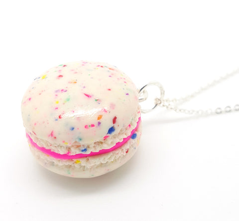Birthday Cake Confetti Macaron Necklace - Bakery Charms - 1