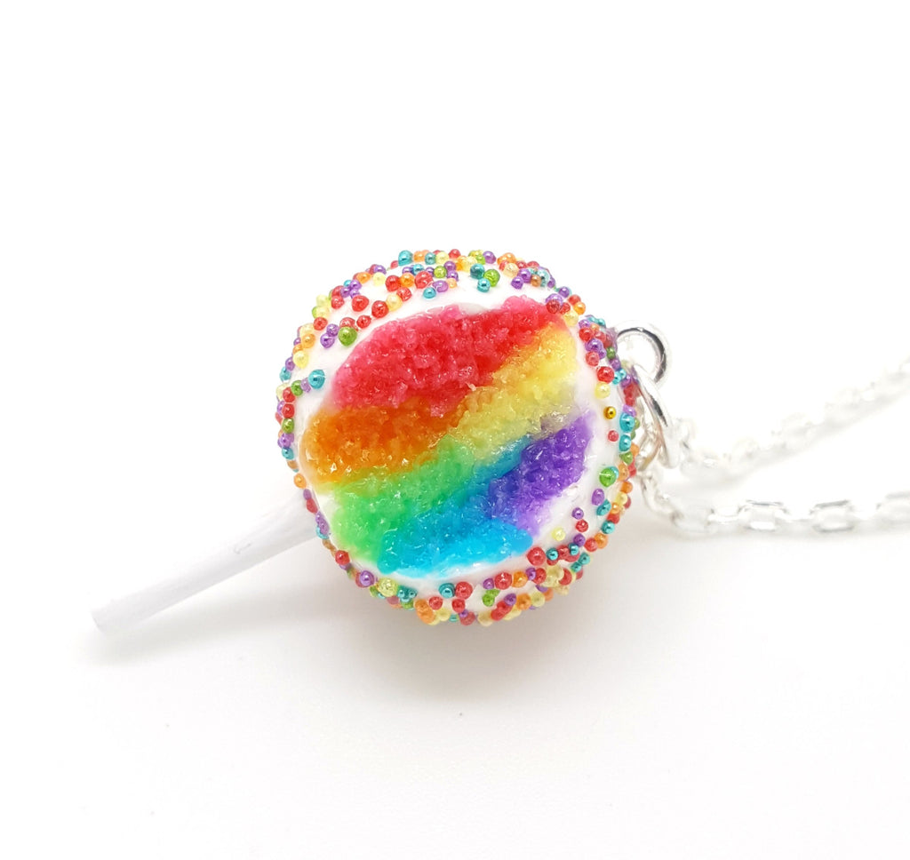 Rainbow Cake Pop Necklace - Bakery Charms - 1