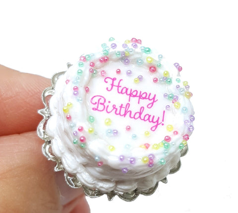 Birthday Cake Ring - Bakery Charms - 1