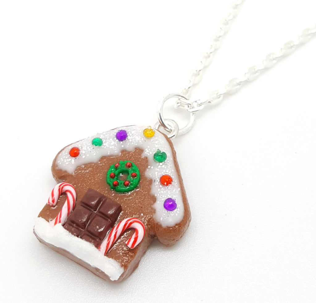 Gingerbread House Cookie Necklace