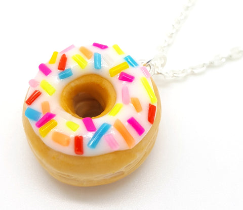 Birthday Sprinkle Donut Necklace