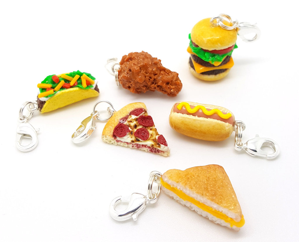 Savory Junk Food Charm Set