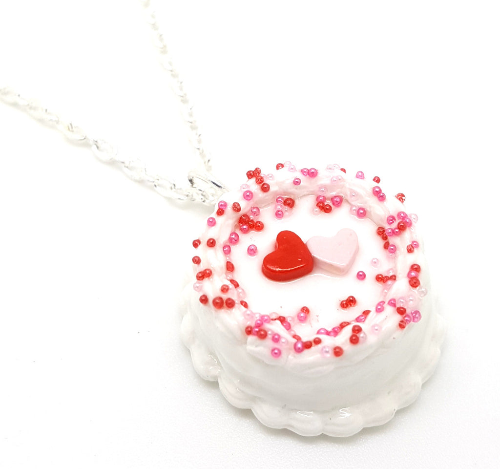 Valentine Hearts Cake Necklace