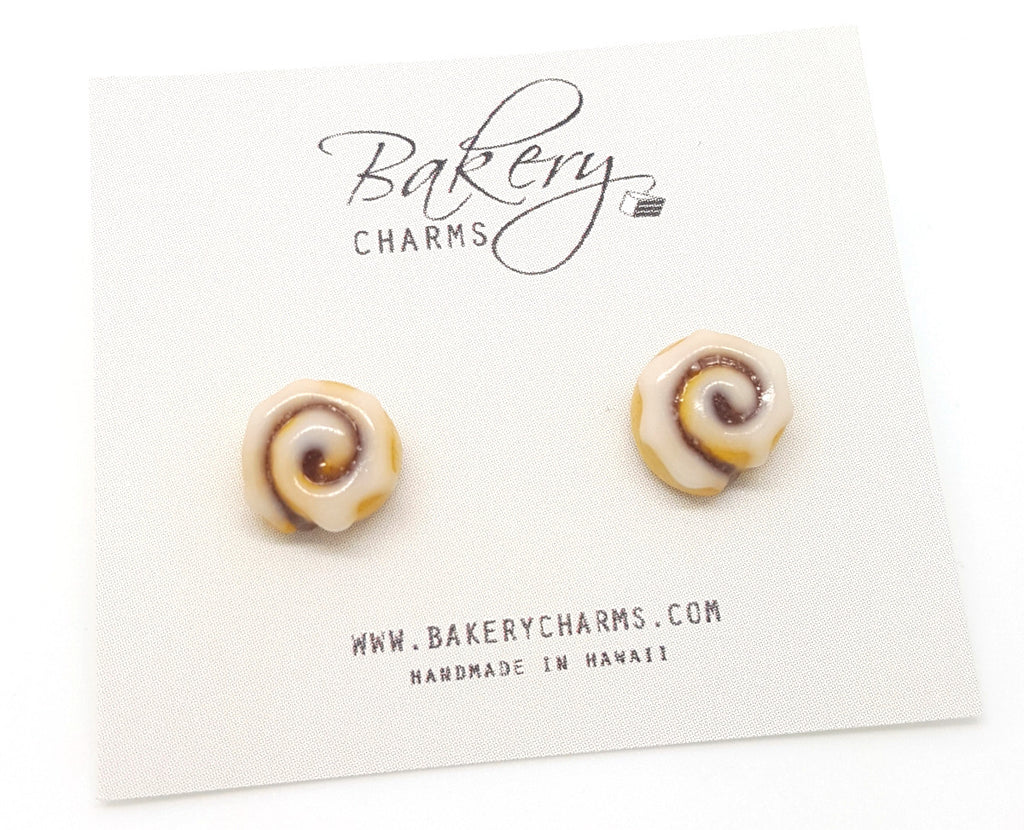 Cinnamon Roll Stud Earrings