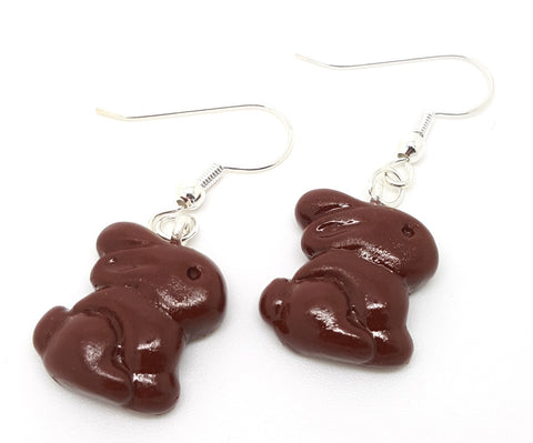 Chocolate Bunny Earrings