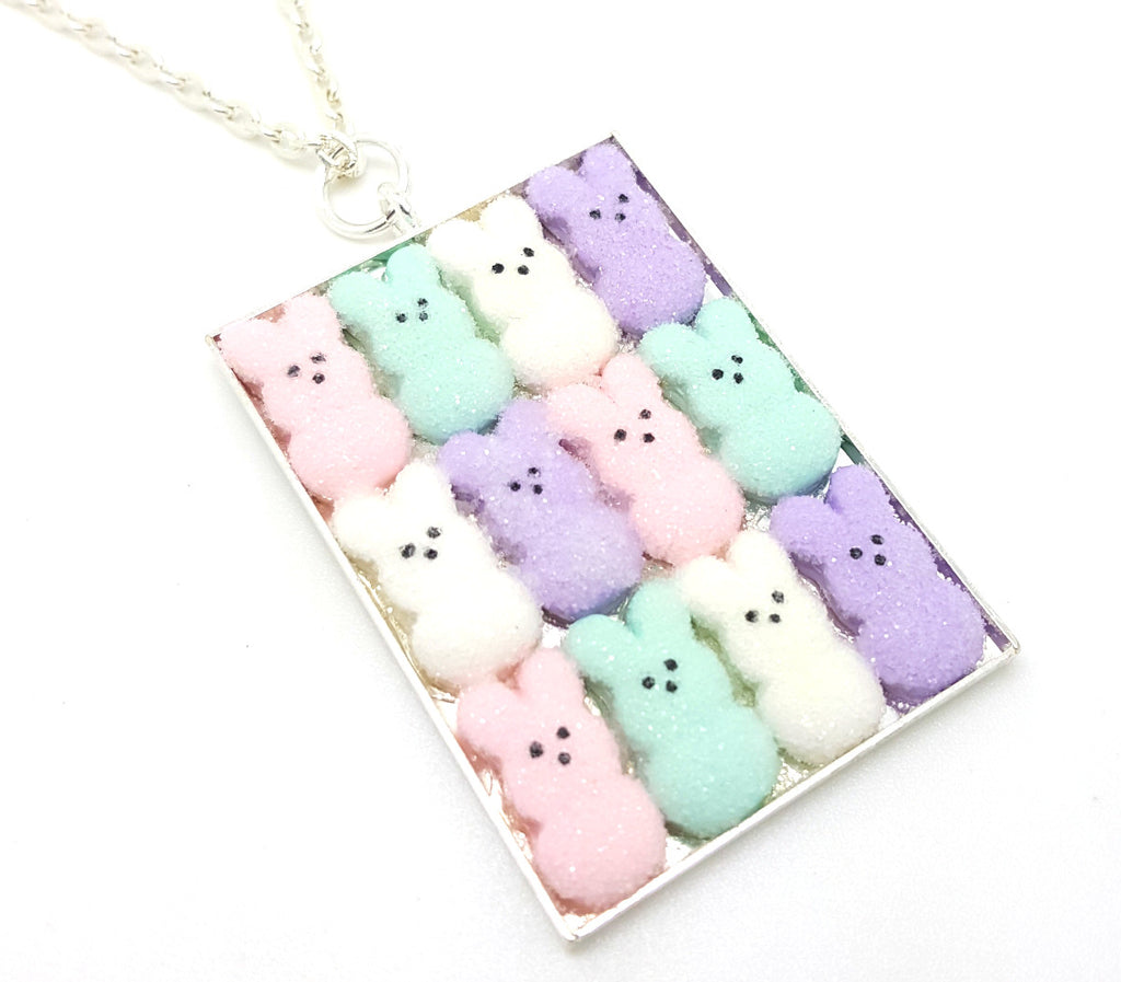 Box of Spring Mix Marshmallow Bunnies Necklace