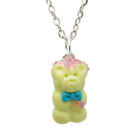 Birthday Cake Candy Bear Necklace