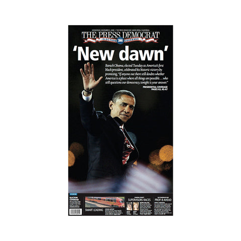 The Press Democrat Classics : 2008 US Election New Dawn