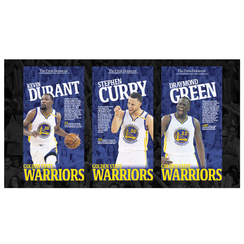 Commemorative Warriors Page Reprint - The Big 3