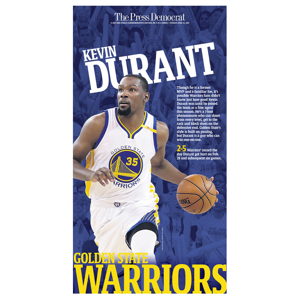 Warriors 2017 Commemorative Sports Page - Kevin Durant