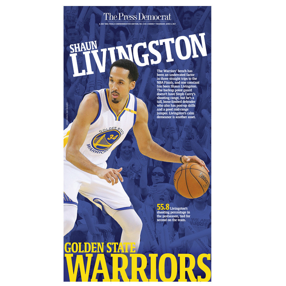 Warriors 2017 Commemorative Sports Page - Shaun Livingston