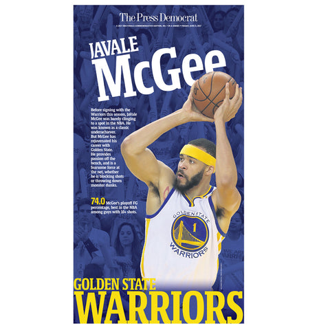 Warriors 2017 Commemorative Sports Page - Javale McGee