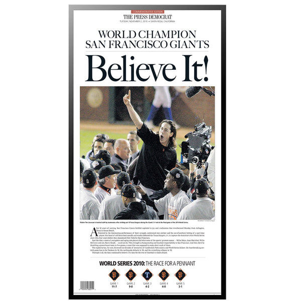 PD Classic - Commemorative SF Giants 2010 World Series Win
